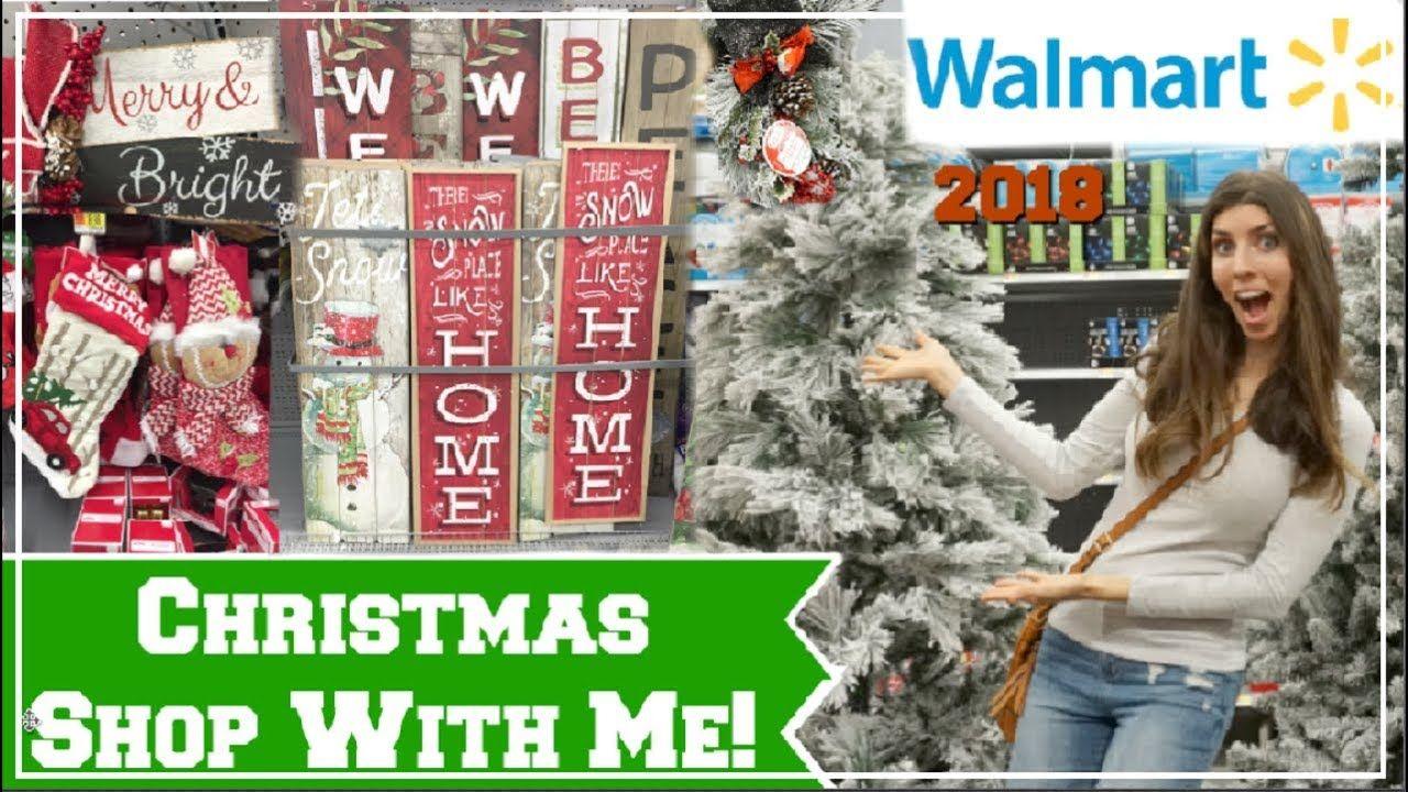 Walmart Christmas Shop With Me 2018 New Christmas Decor Momma