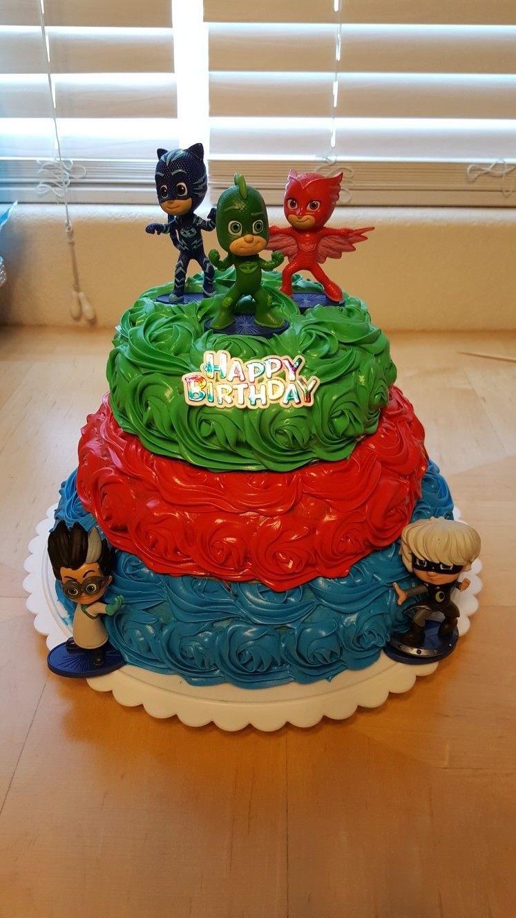 PJ Masks Birthday CakeGOTTA Make This For The Wee Ones Next
