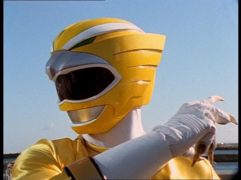 The yellow power ranger!   Power rangers wild force, Power rangers, Go go  power rangers