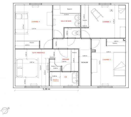 Très Stunning 120m2 House Plans Ideas - Best idea home design  XG17