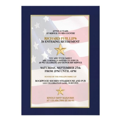 Military Retirement Party Invitations Military retirement parties