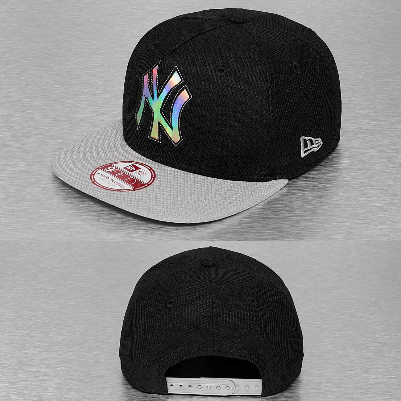New Era Snapback Cap Outline Shine Ny Yankees Zwart