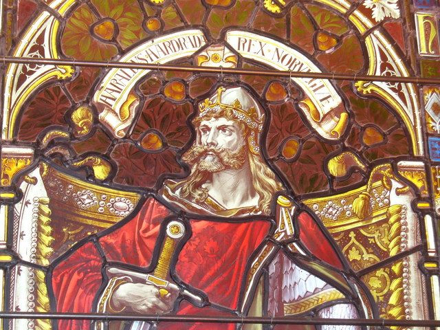 King Harald III of Norway - now commonly known as Harald Hardrada. He invaded England in September 1066. Anglo-Saxon King Harold marched an army north and defeated Harald, who was killed.