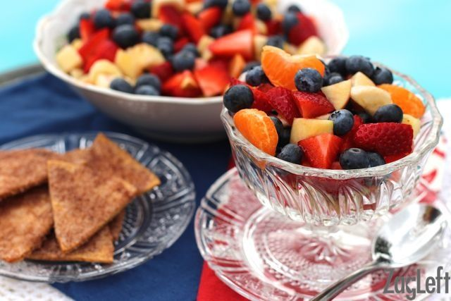 Fruit Salsa with Cinnamon  Sugar Chips - College Student Meals - ZagLeft