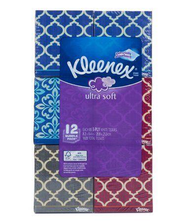 Look at this #zulilyfind! Ultra Soft Kleenex Tissue Box 12-Ct. Pack #zulilyfinds