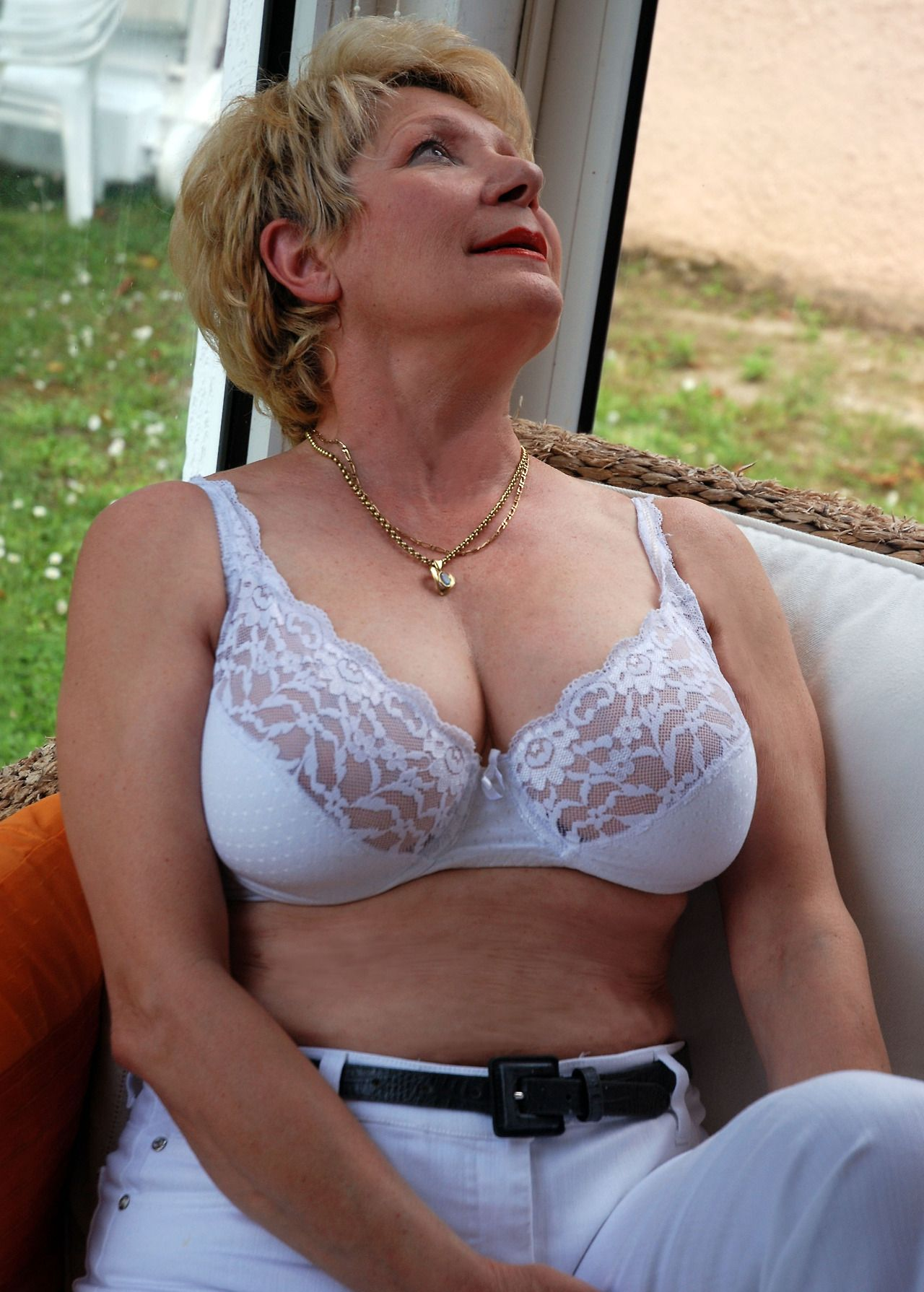 Mature moms in lingerie