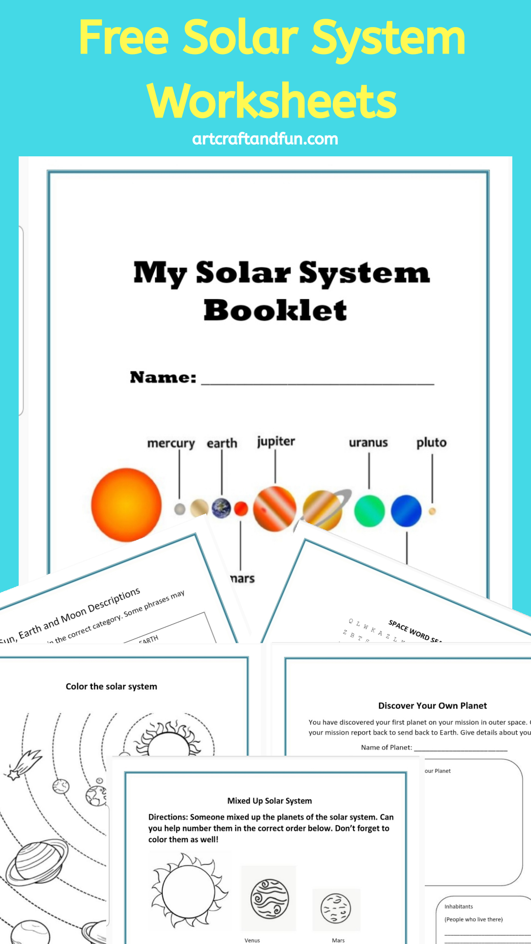 Free Printable Solar System Worksheets For Kids Ages 6 And Up Solar System Worksheets Solar System Lessons Solar System Projects [ 1920 x 1080 Pixel ]