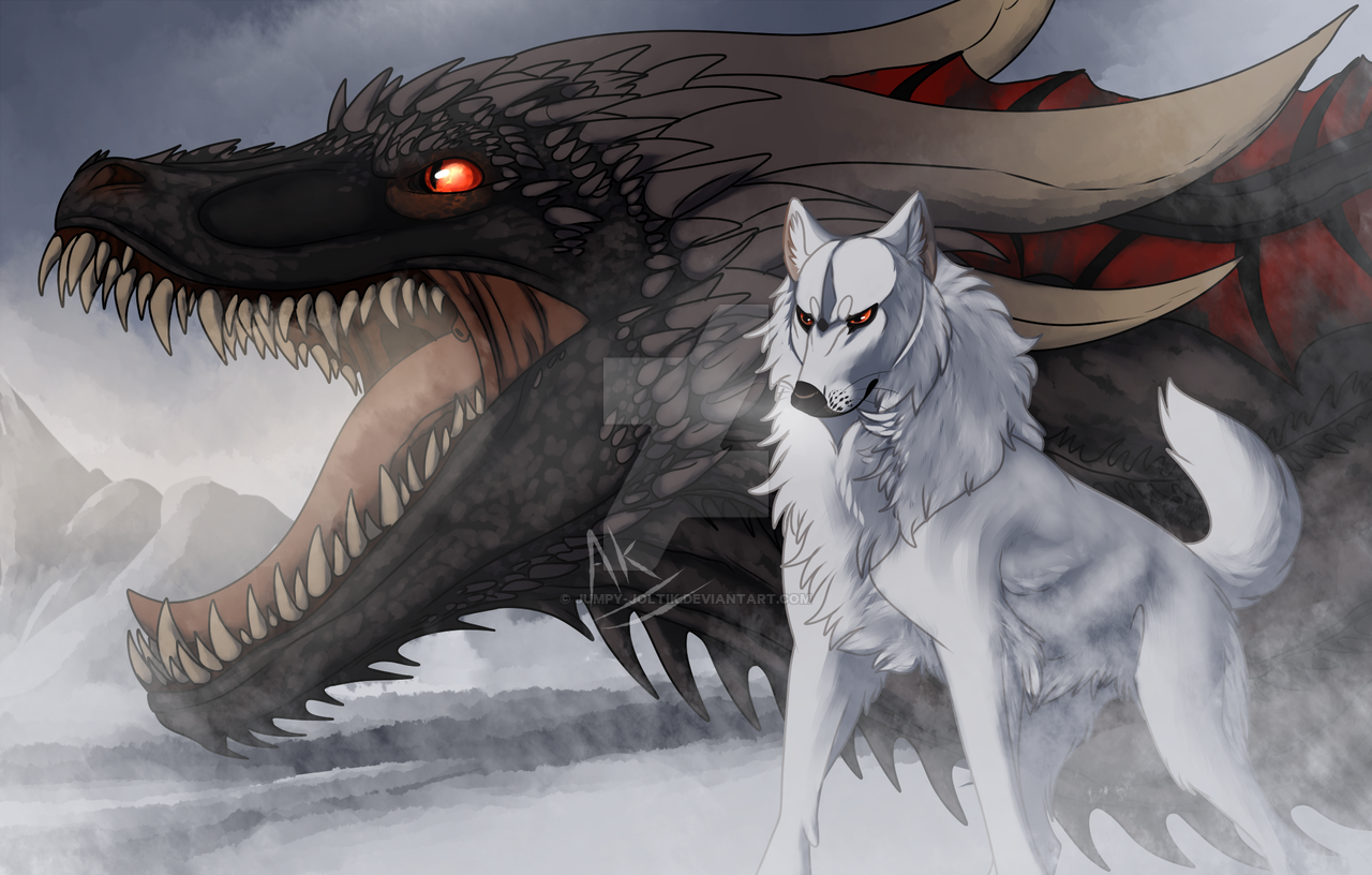 Photo of [Fanart Friday] The Dragon and the Wolf by Jumpy-Joltik on DeviantArt