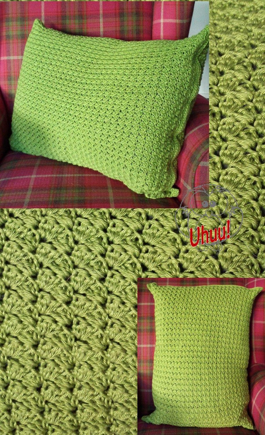 Uhuu! Kissen Bezug, häkeln, Anleitung Muster: http://www.crochetspot ...