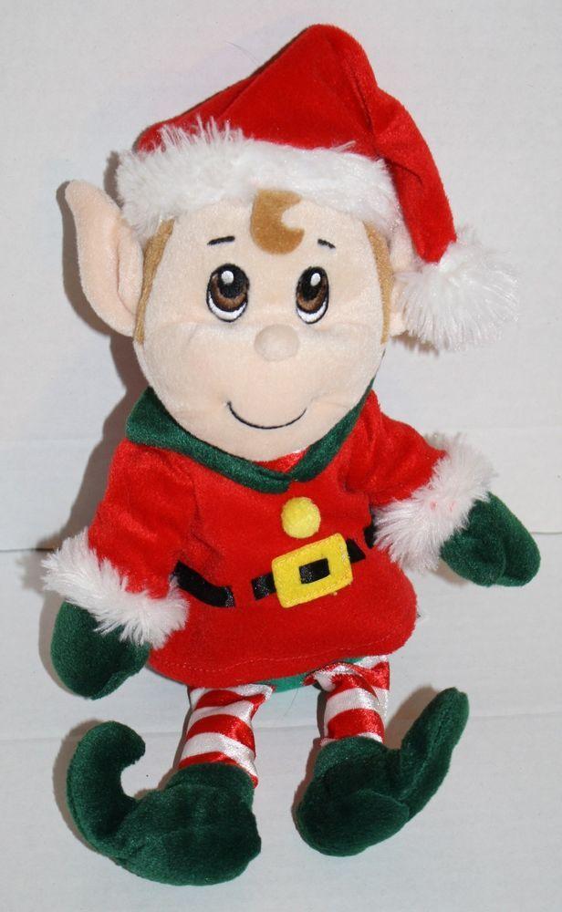 Fiesta Stuffed Animals Santas Secret Elf Boy Plush Christmas Toy 12