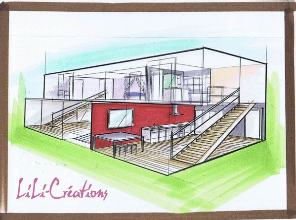 Superbe Vue Intérieure De La Maison Container 34   Le Blog De Elise Fossoux