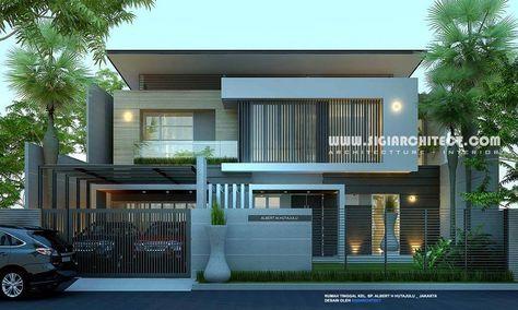 Rumah mewah 2 lantai kolam renang desain fasad rumah