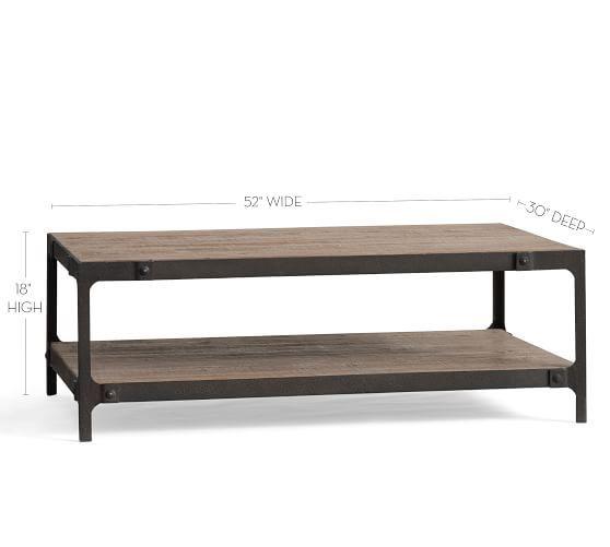Clint Reclaimed Wood Coffee Table Potterybarn Reclaimed Wood Coffee Table Coffee Table Pottery Barn Metal Wood Coffee Table