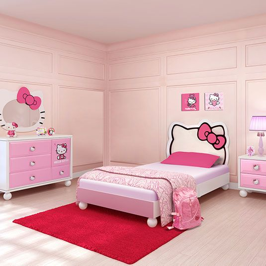 Hello Kitty Hello Kitty Bedroom In A Box Twin Bed Dresser