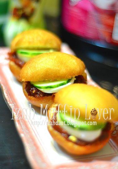 Izah Muffin Lover Burger Malaysia Dilapis Telur Telur Sarapan Makanan