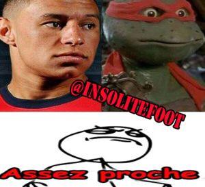 Arsenal :OXLADE-CHAMBERLAIN, Tortue Ninja!