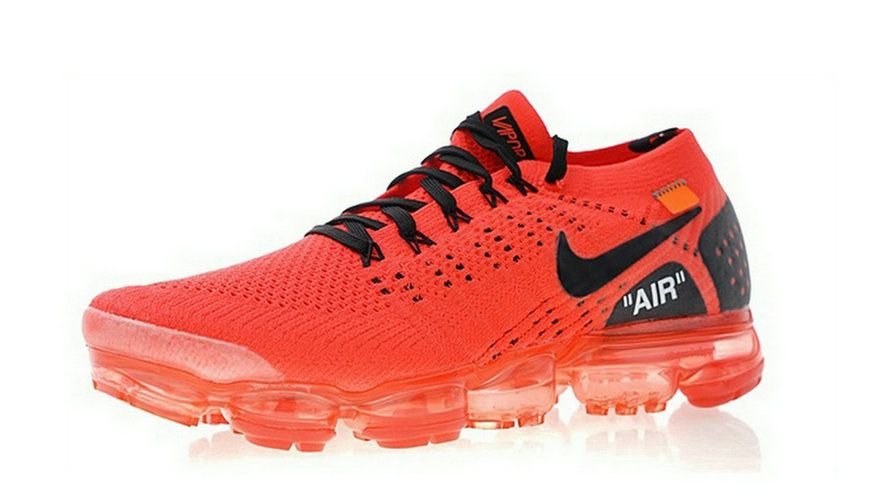 separation shoes 2ce6a 24508 2018 Really Cheap Off White X Nike Air Vapormax Flyknit 2 Blood Red Black  Sneaker