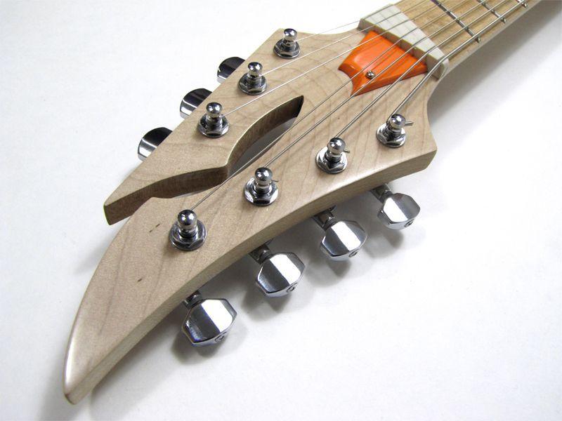Equilibrium Guitars Masai CreamSickle headstock