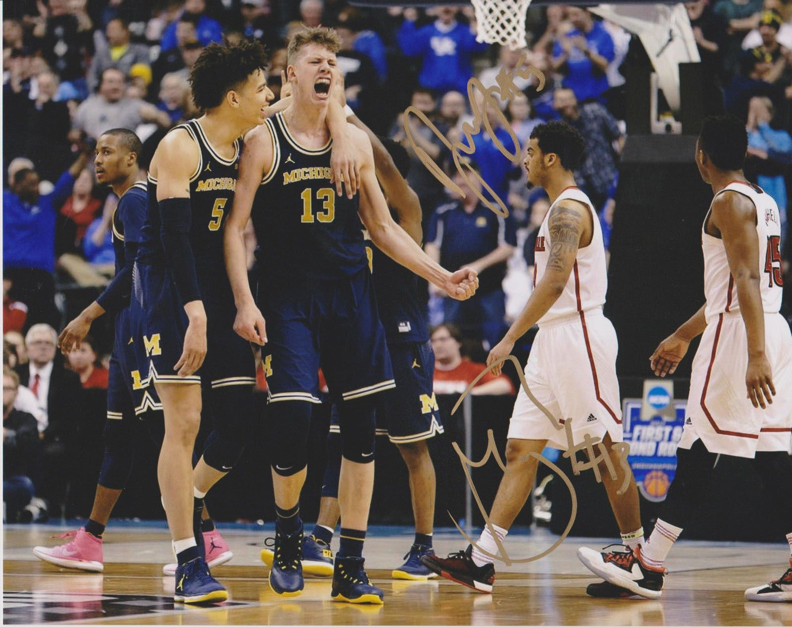 e0161be60fb5 D.J. WILSON + MORITZ WAGNER Michigan Wolverines Basketball Signed 8X10  Photo