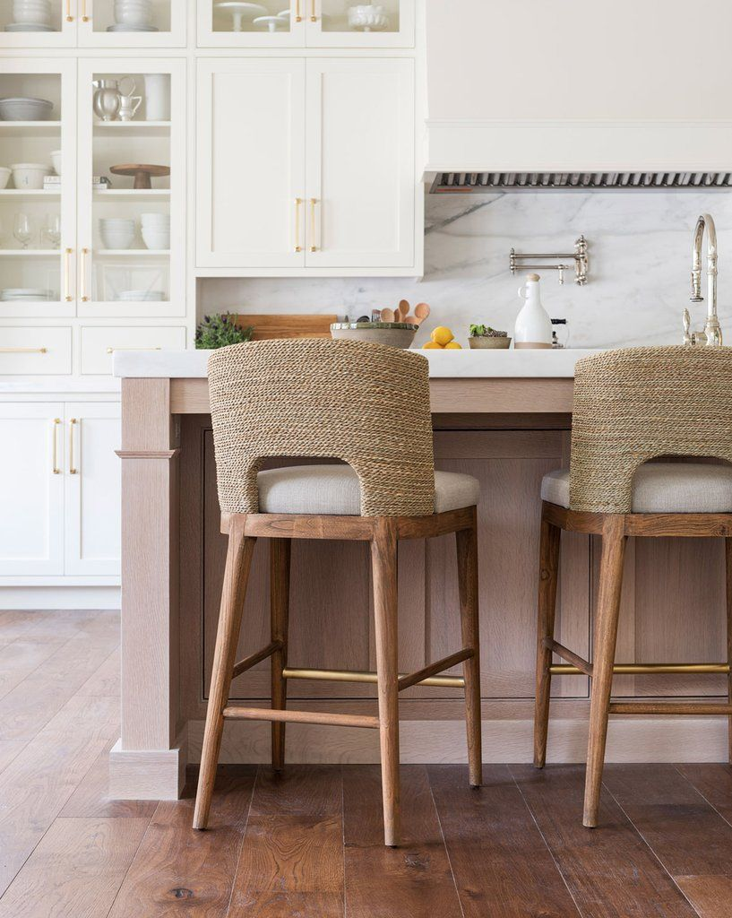 Ava Seagrass Counter Stool Natural Teak Seagrass Kitchen