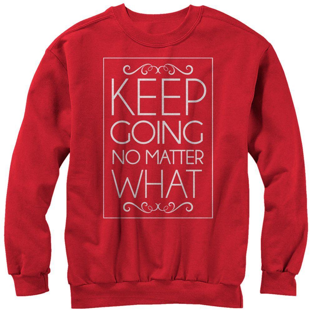 Chin Up - Keep Going Adult Crewneck Sweatshirt