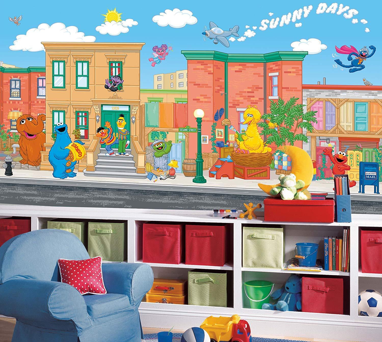Elmo Sesame Street Wallpaper Wall Mural Sesame Street Room
