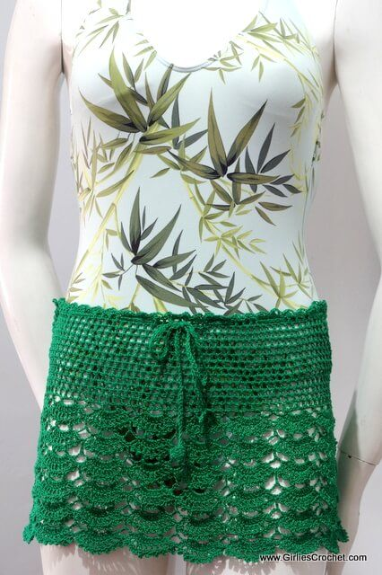 Gina Summer Skirt Free Crochet Pattern Summer Cover Up Thread