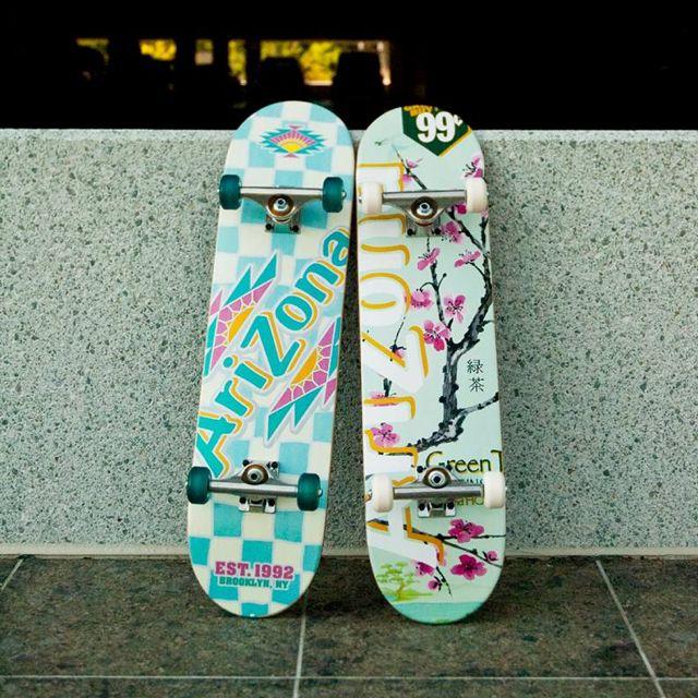 Arizona Iced Tea Skateboard Painted Skateboard Skateboard Art Custom Skateboards