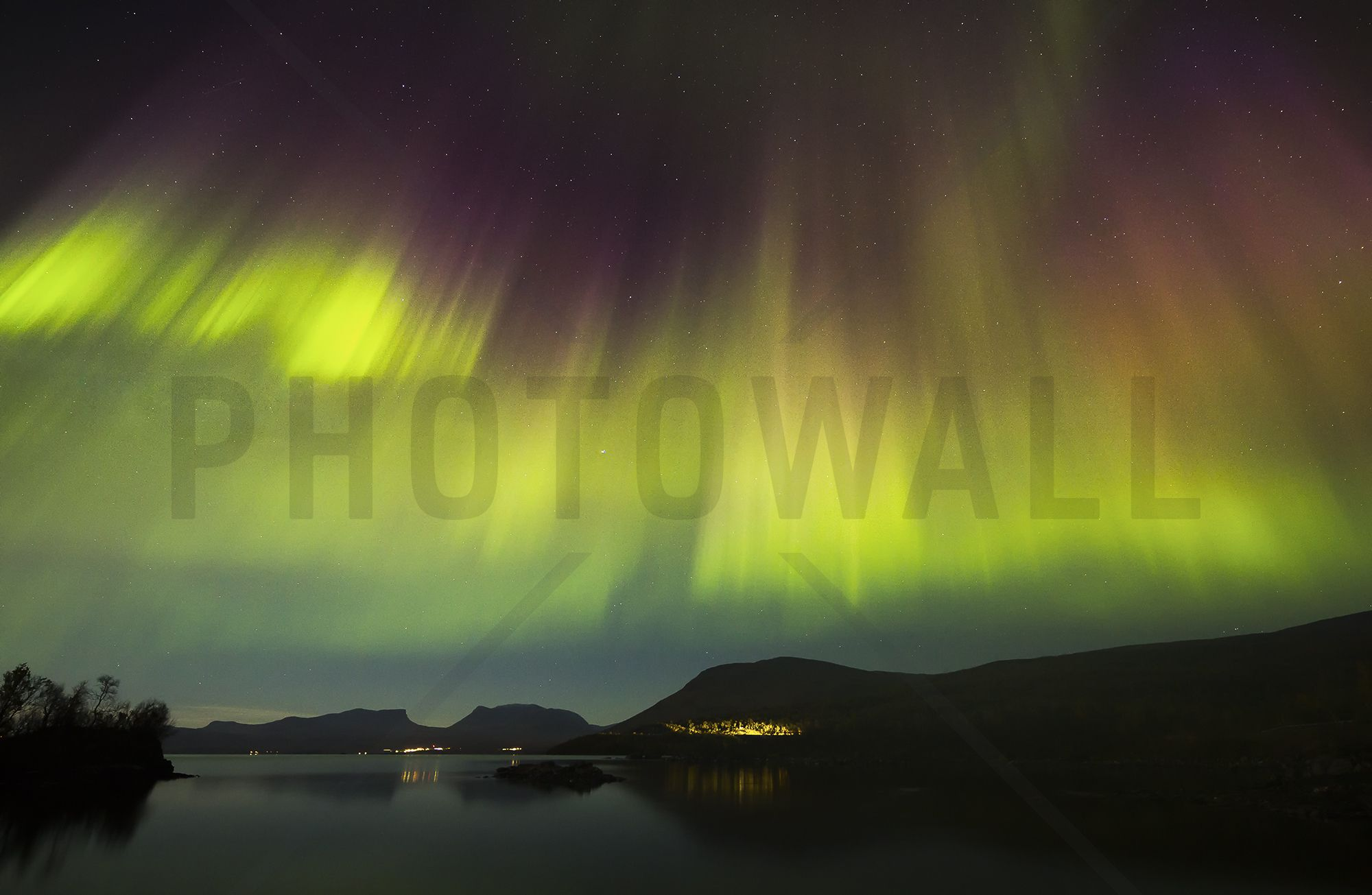 Northern Lights in Sweden Wall Mural