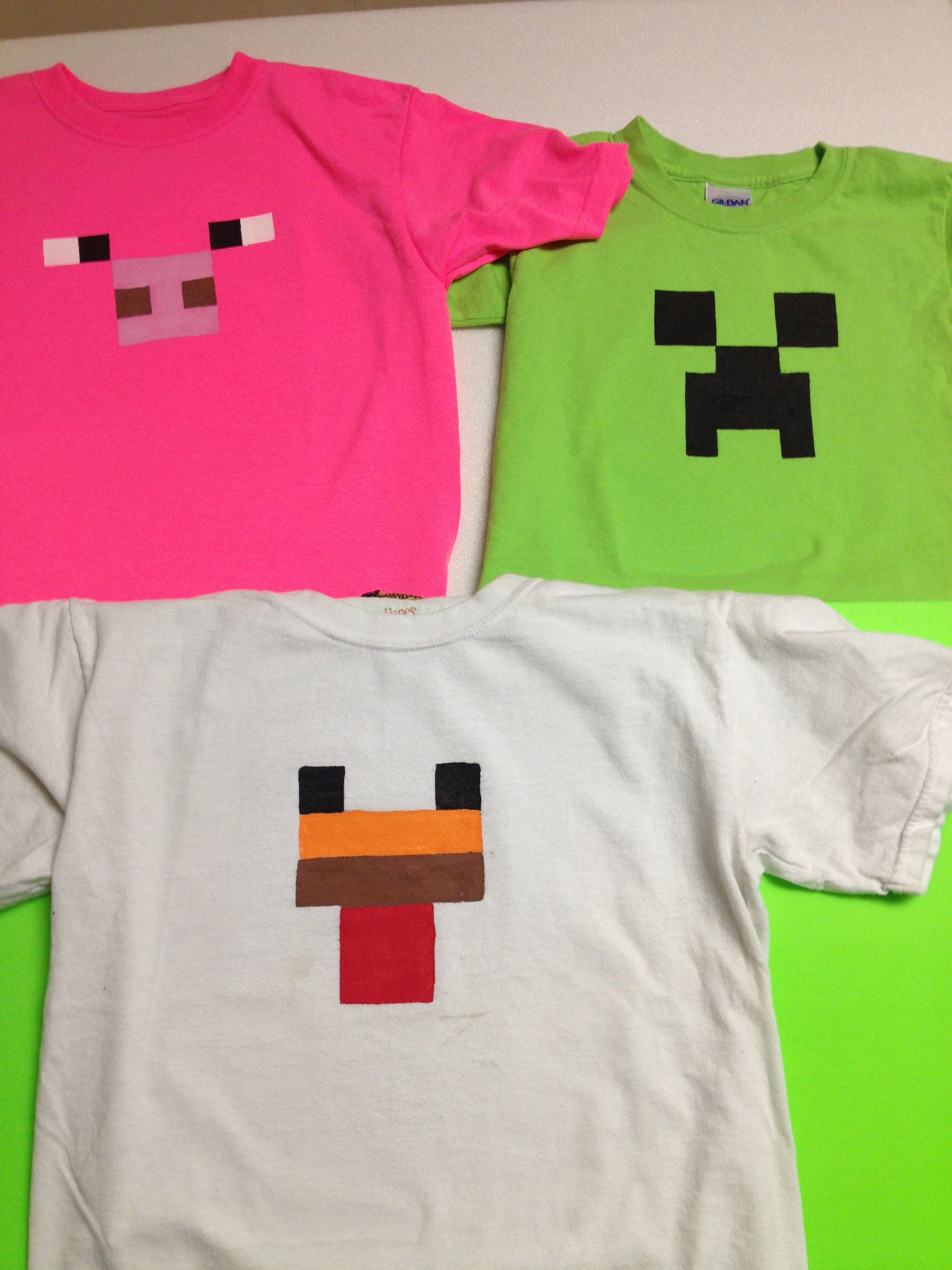 Freezer Paper T Shirts For Alec S Minecraft Party Things