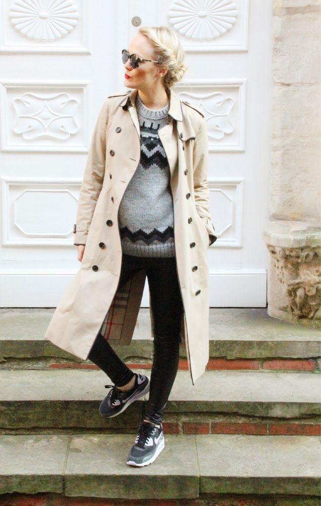 nie wunschfrei: Herbst-Outfit mit Dämpfung: Burberry & Nike Air Max 90