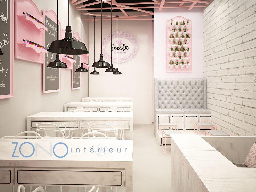 Nail Bar vintage design   Zono Interieur designs   Pinterest   Stage