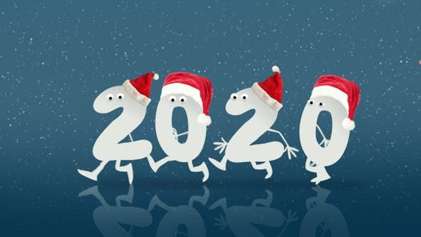 Christmas And New Year Opener After Effects Video Happy New Year Gif Merry Christmas Gif Happy New Year Animation