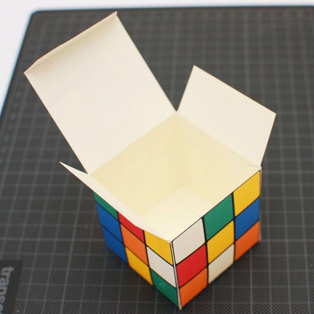 Rubik S Cube Printable Diy Gift Box Favor Box Cupcake