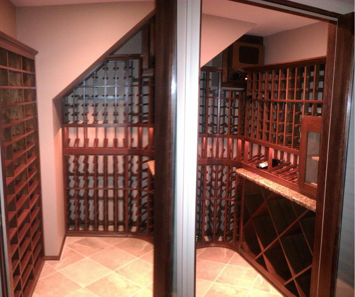 Ahmad Custom Wine Cellar Baltimore Maryland It Has A 410 Wine Bottle Capacity And Is Built With Mahogany Win Custom Wine Cellars Wine Cellar Home Wine Cellars