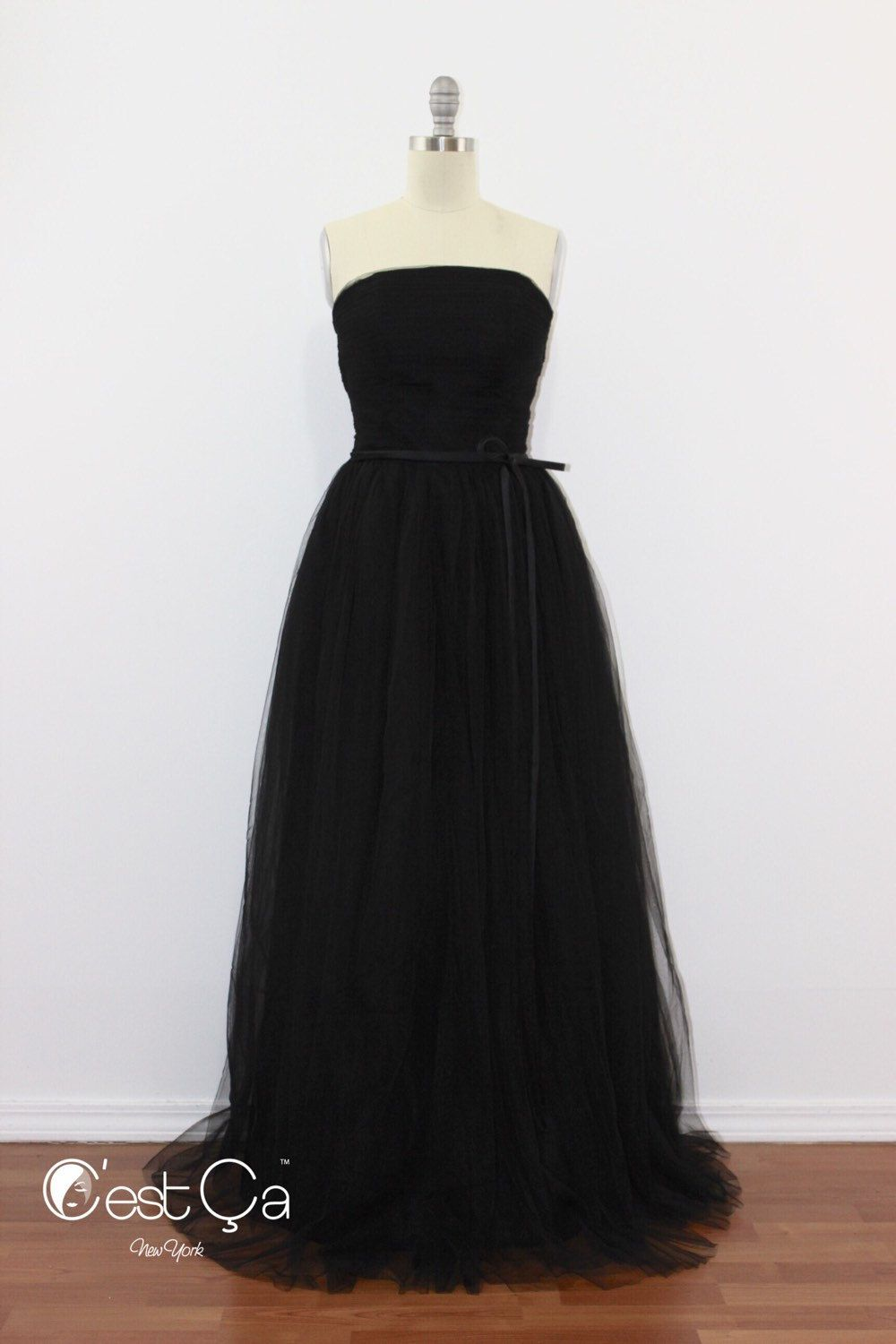 Audrey bridal gown wedding dress maxi tulle dress in black