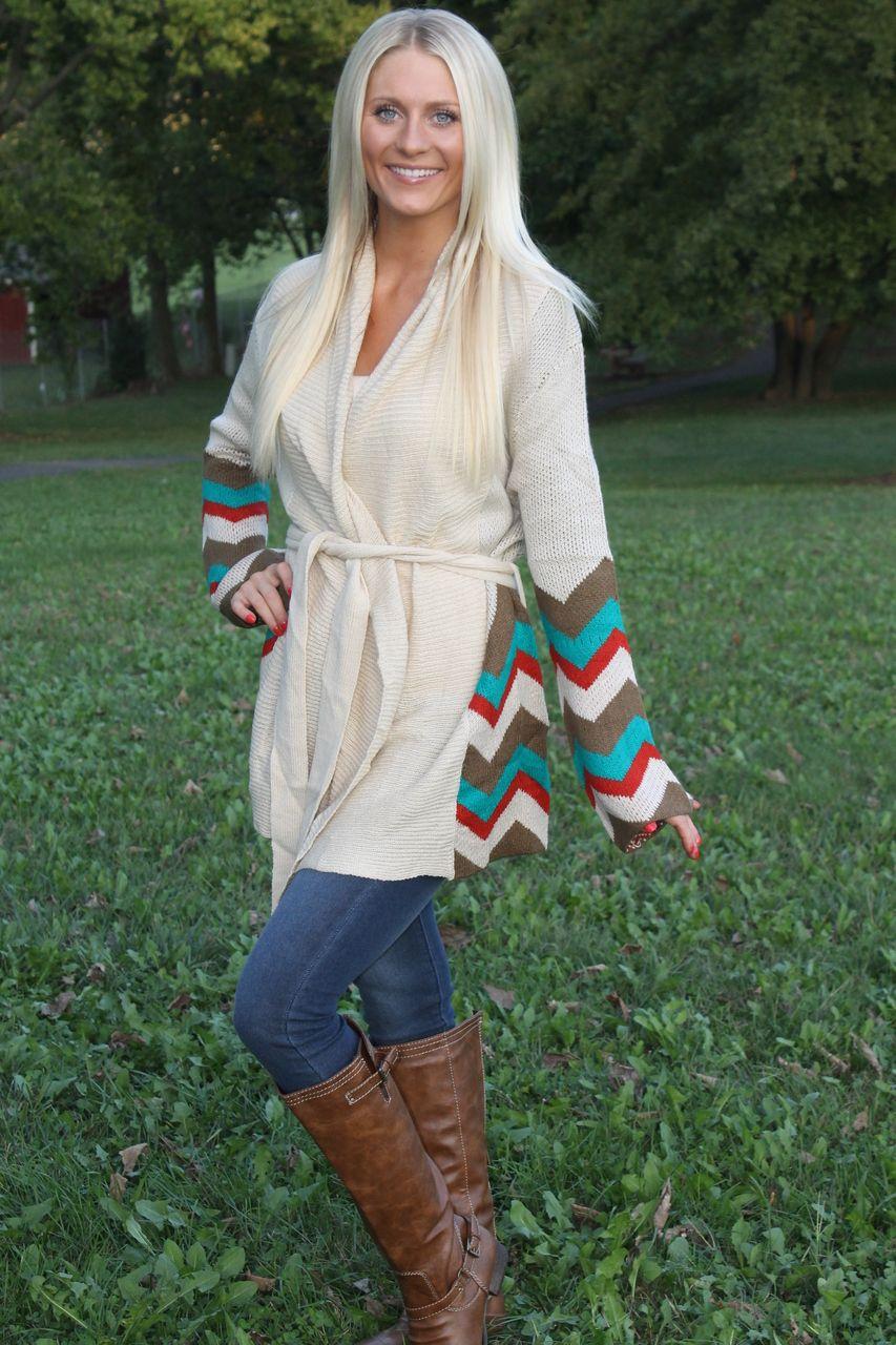 Magnolia Boutique Indianapolis - Chevron Cardigan Sweater