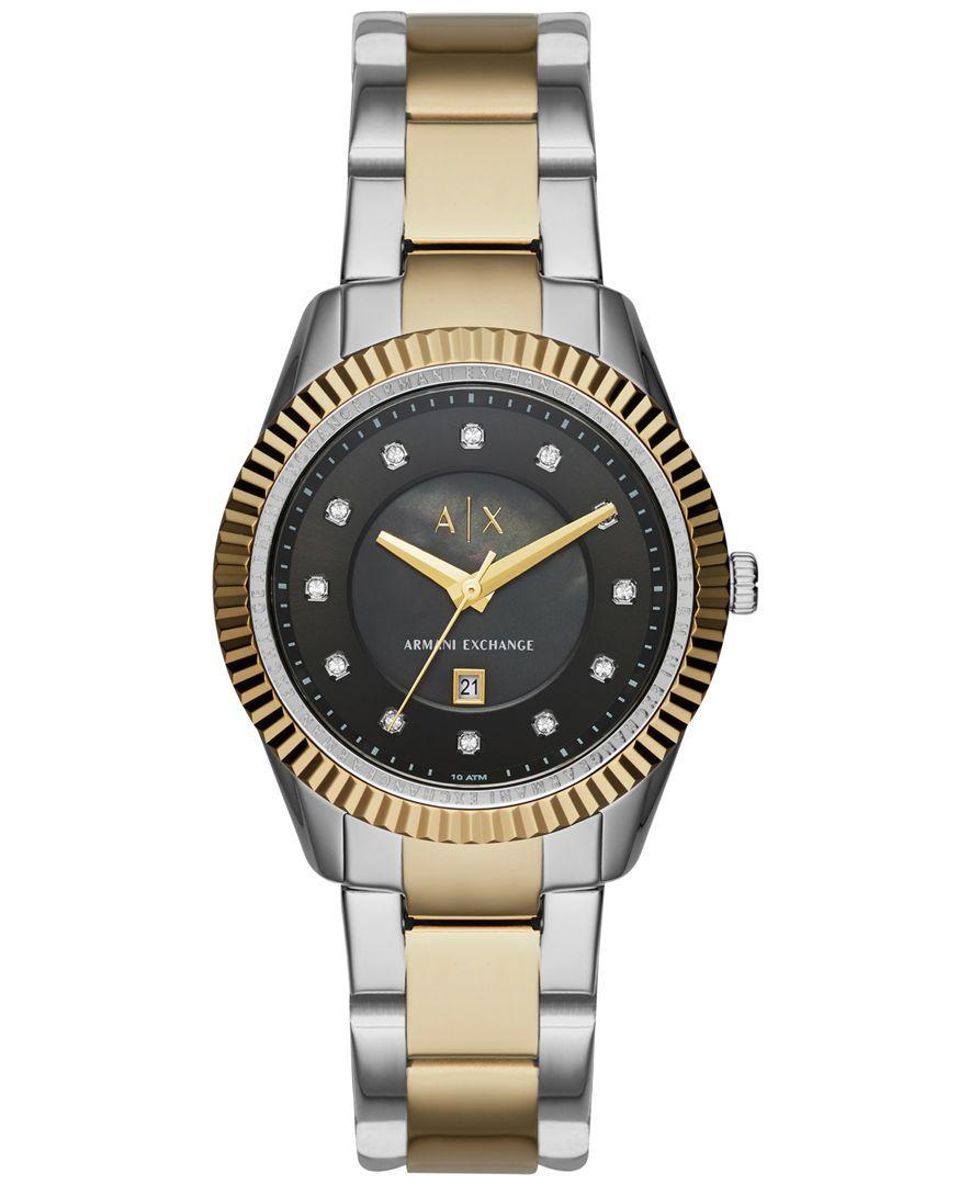 A|X Armani Exchange Women's Two-Tone Stainless Steel Bracelet Watch 36mm AX5433