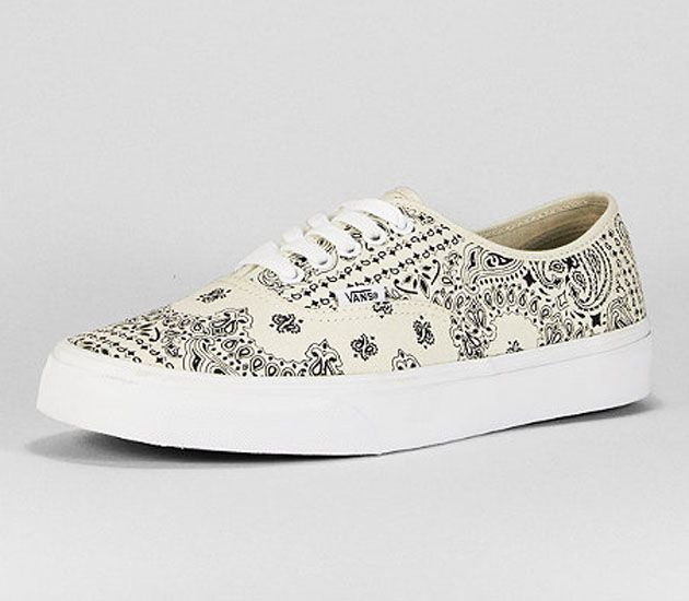 Vans Authentic-White Bandana