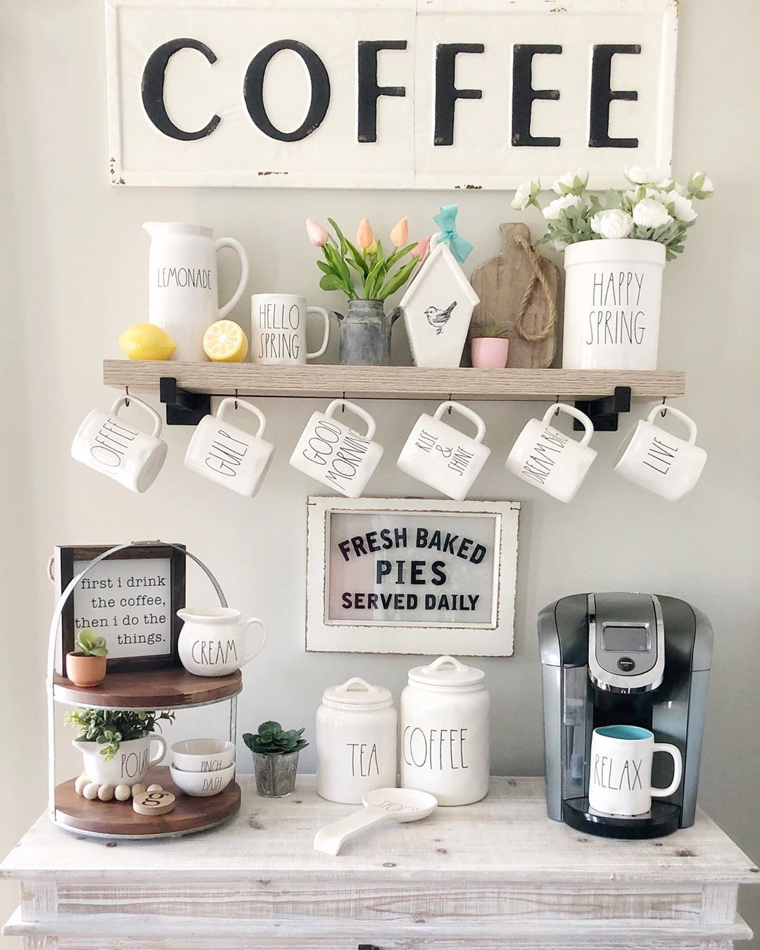 Pin on Coffee Bar In Kitchen