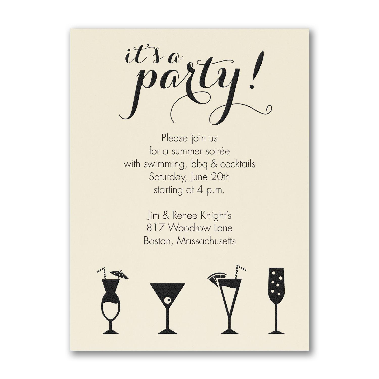 It S A Cocktail Party Party Invitation Ecru Cocktail Party Invitation Party Invitations Party Invite Design