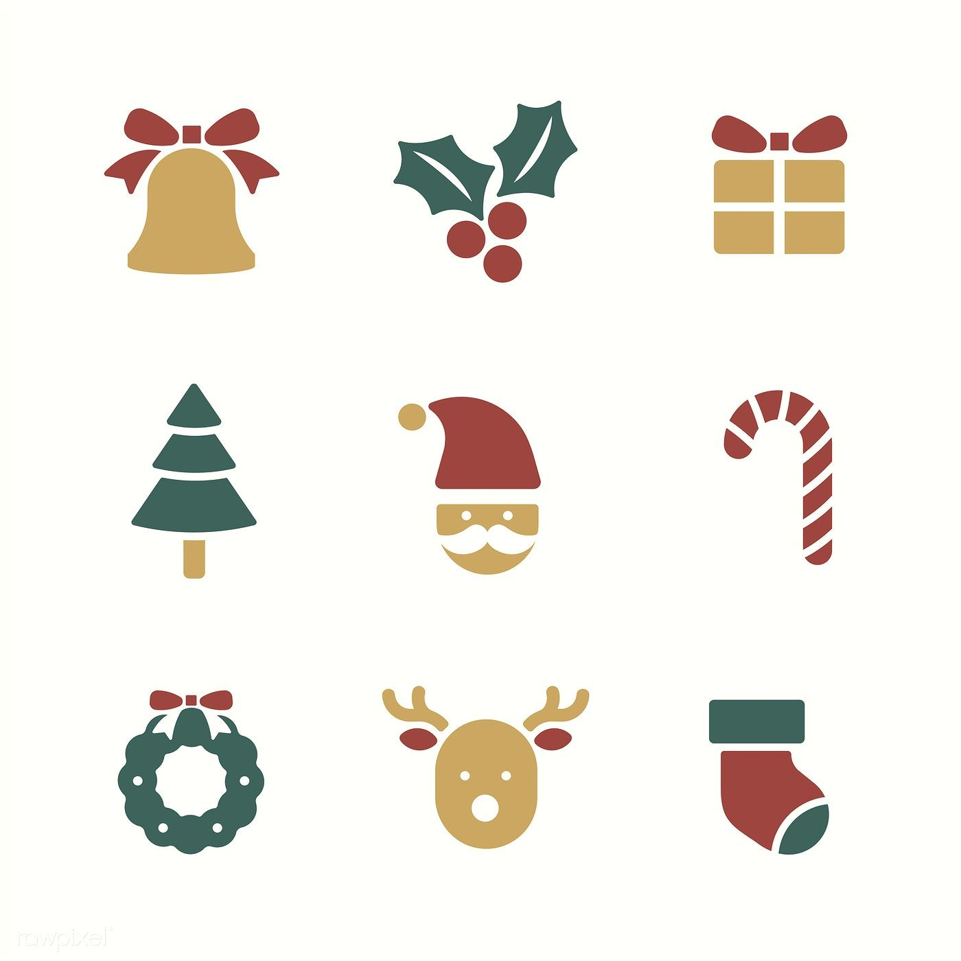 Christmas Holiday Symbols Vector Set