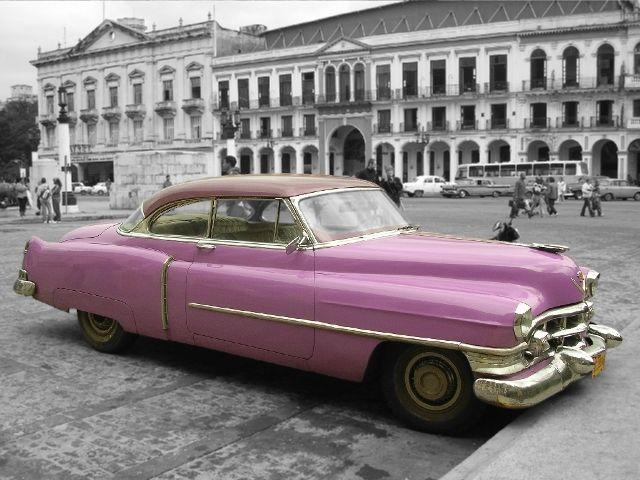 Pink Vintage Cars Cars Car Picture Pink Classic Cuba Fujur Photo