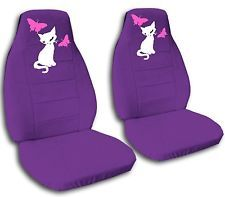 2 Front Cat With Butterflies Velvet Seat Covers 2007 To 2012 Nissan Altima Hello Kitty Car