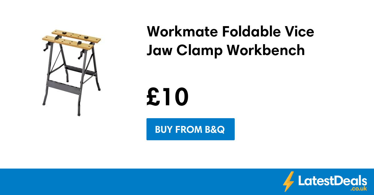 Workmate Foldable Vice Jaw Clamp Workbench, £10 at B&Q Asda