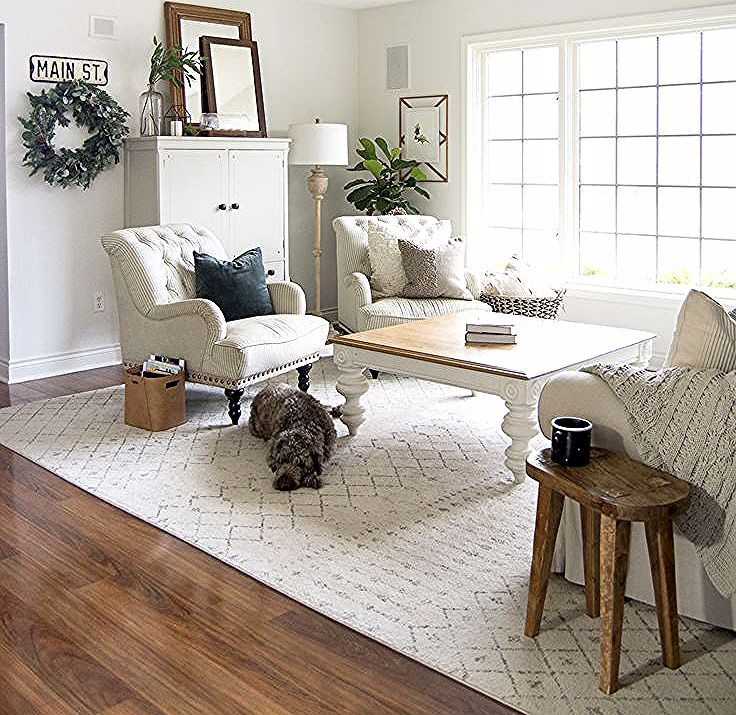 Do you need a change of pace but don't want to break the bank? Change your layout! Today I'm sharing two ways to style farmhouse living room furniture! #fromhousetohaven #livingroomfurniture #livingroomdesign #couch