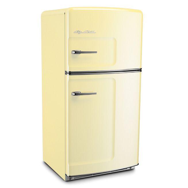 Yellow Small Kitchen Appliances: Cream Big Chill Retro Fridge