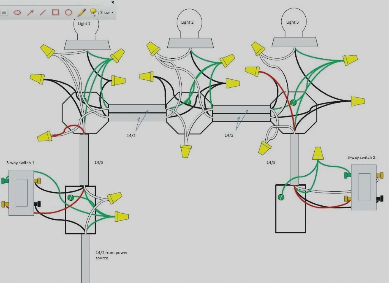unique 4 way switch wiring diagram multiple lights wellread me with 3 and [ 1334 x 970 Pixel ]