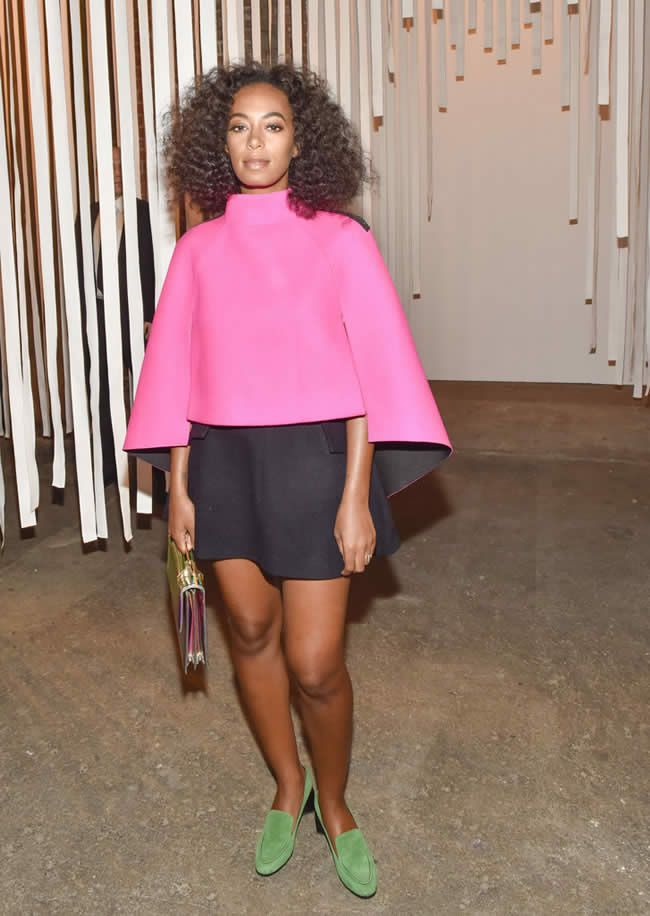 Solange Knowles in pink @NYFW