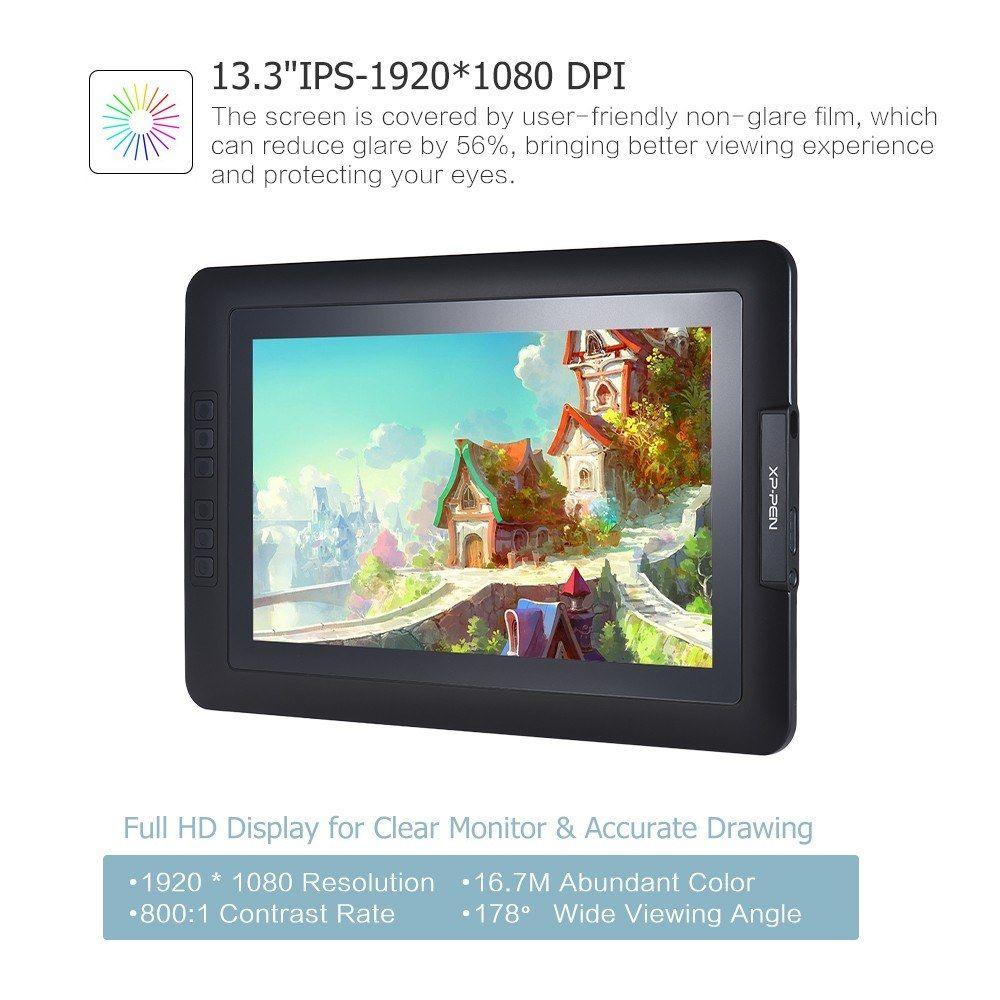 "XPPen Artist12 11.6"" HD Drawing Pen Tablet IPS Graphics"